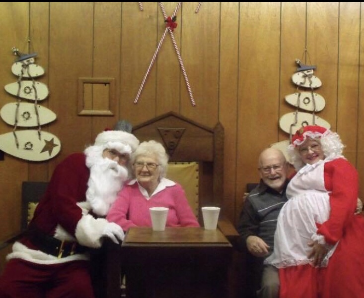 My grandparents with my parents aka Santa and Mrs Clause