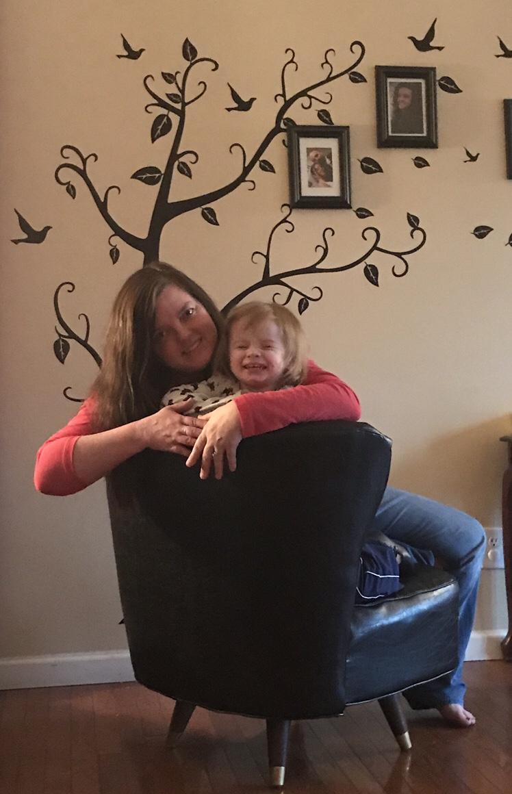 Me and Sadie girl in Mamaw Sadie's chair