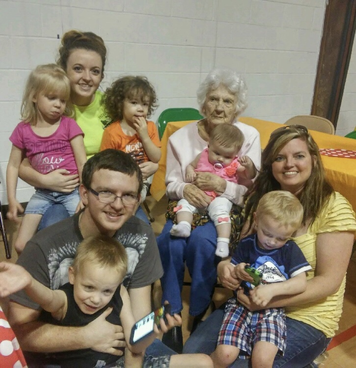 Grandma, me and all my kiddos